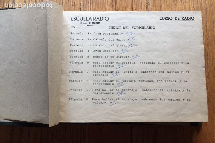 Radios antiguas: ESCUELA DE RADIO, F.MAYMO TOMO FORMULARIOS Y ESQUEMAS - Foto 3 - 174962388
