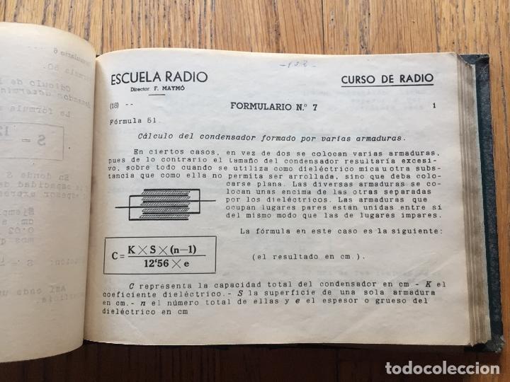 Radios antiguas: ESCUELA DE RADIO, F.MAYMO TOMO FORMULARIOS Y ESQUEMAS - Foto 5 - 174962388