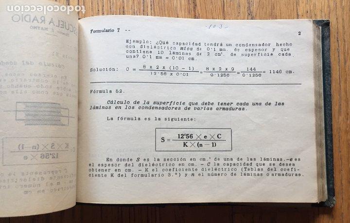 Radios antiguas: ESCUELA DE RADIO, F.MAYMO TOMO FORMULARIOS Y ESQUEMAS - Foto 6 - 174962388