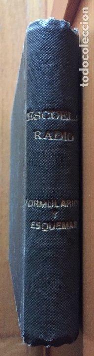 ESCUELA DE RADIO, F.MAYMO TOMO FORMULARIOS Y ESQUEMAS (Radios, Gramófonos, Grabadoras y Otros - Catálogos, Publicidad y Libros de Radio)