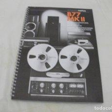 Radios Anciennes: MANUAL DE OPERACIONES **REVOX B.77 MKII**. Lote 175226694