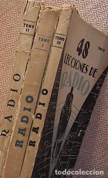 48 LECCIONES DE RADIO. TOMOS I, II Y III. J.SUSMANSKY. (Radios, Gramófonos, Grabadoras y Otros - Catálogos, Publicidad y Libros de Radio)