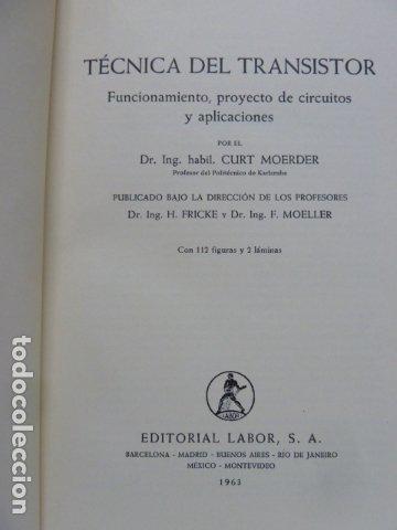 Radios antiguas: LA TECNICA DEL TRANSISTOR - Foto 2 - 175564328