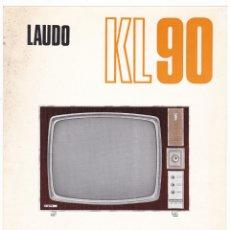 Radios antiguas: LAUDO KL-90 - TELEVISOR 23 - 25 - CARACTERISTICAS. Lote 176192074