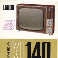Radios antiguas: LAUDO KL-140 - TELEVISOR 19 - 23 - CARACTERISTICAS. Lote 176192165