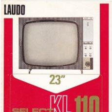 Radios antiguas: LAUDO SELECT KL-110 - TELEVISOR 23 - CARACTERISTICAS. Lote 176192195
