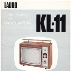 Radios antiguas: LAUDO KL-11 - TELEVISOR PORTATIL DE LUJO - CARACTERISTICAS. Lote 176192275