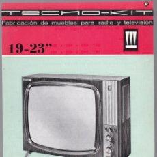 Radios antiguas: TECNO-KIT - TELEVISOR 19 - 23 - MODELO 823 Y 819 - CARACTERISTICAS. Lote 176196218