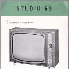Radios antiguas: STUDIO 69 - KIT TELEVISON - STUDIO 2 - CARACTERISTICAS . Lote 176198319