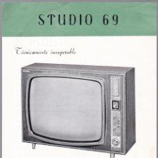 Radios antiguas: STUDIO 69 - KIT TELEVISON - STUDIO 2 - CARACTERISTICAS . Lote 176198360