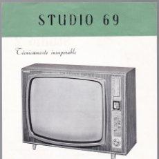 Radios antiguas: STUDIO 69 - KIT TELEVISON - STUDIO 2 - CARACTERISTICAS . Lote 176198388