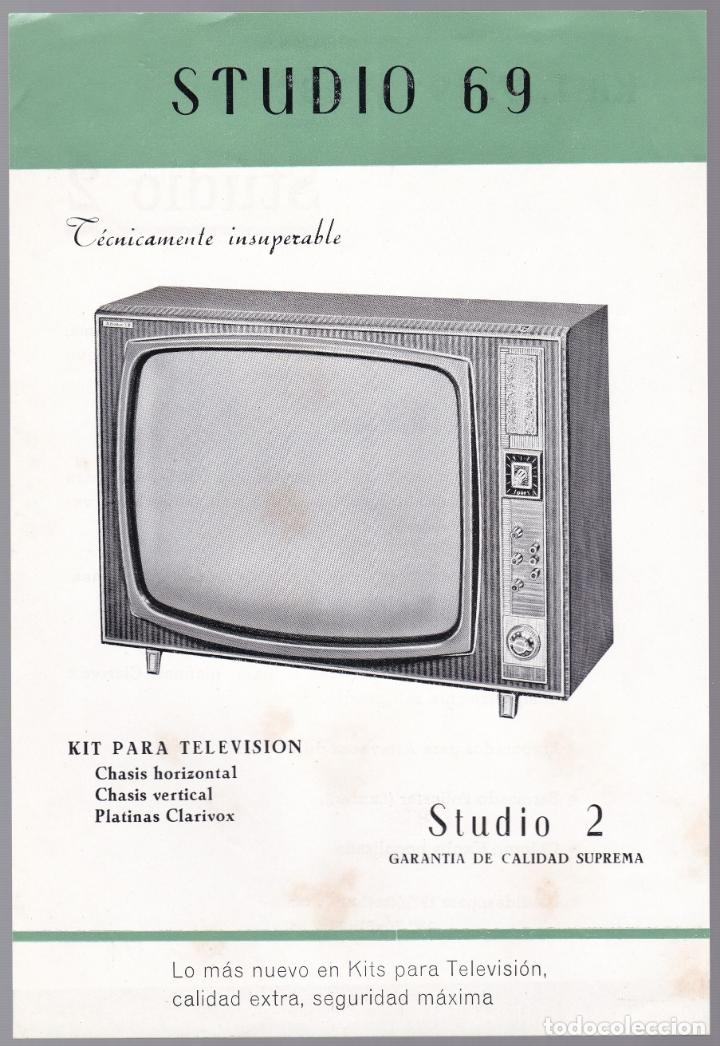 STUDIO 69 - KIT TELEVISON - STUDIO 2 - CARACTERISTICAS (Radios, Gramófonos, Grabadoras y Otros - Catálogos, Publicidad y Libros de Radio)
