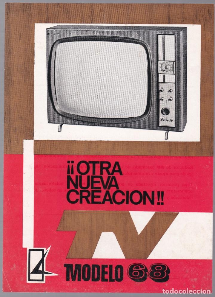 TELEVISOR MODELO 68 - CARACTERISTICAS (Radios, Gramófonos, Grabadoras y Otros - Catálogos, Publicidad y Libros de Radio)