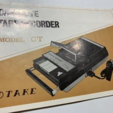 Radios antiguas: MANUAL DE INSTRUCCIONES CASSETTE TAPE RECORDER MODEL CT. Lote 176254504
