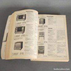 Radios antiguas: RARO !!!! MANNUAL. LIBRO DE TELEVISIÓN Y FONÓGRAFO CON 654 PAGINAS. 1960 - 1961. Lote 176301580