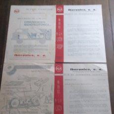Radios antiguas: RCA IBERONICS ESPECIFICACIONES ,REGISTRADOR DE SONIDO S12U Y TRANSISTORIZADOR 1964. Lote 176319065