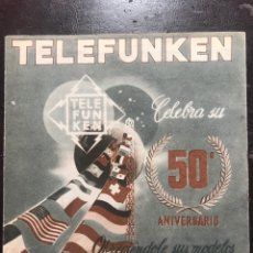 Radios antiguas: TELEFUNKEN. 50 ANIVERSARIO. Lote 176500423