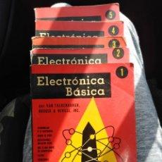 Radios antiguas: ELECTRÓNICA BASICA-5 VOLÚMENES-RADIO VALVULA-ORIGINAL AÑOS 50. Lote 177029287