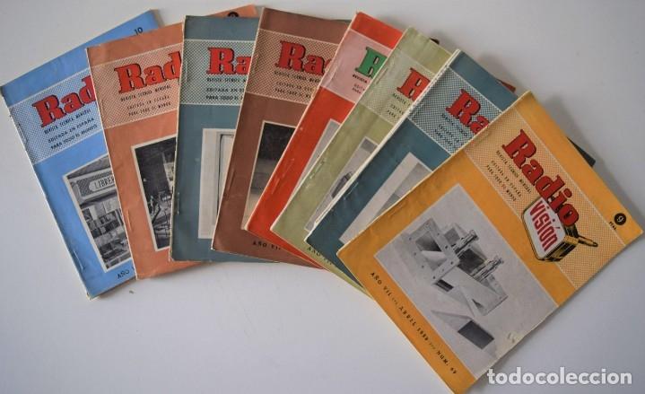 LOTE 8 NÚMEROS REVISTA RADIO VISIÓN AÑOS 50, REVISTA TÉCNICA MENSUAL - VER NÚMEROS (Radios, Gramófonos, Grabadoras y Otros - Catálogos, Publicidad y Libros de Radio)