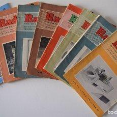 Radios antiguas: LOTE 8 NÚMEROS REVISTA RADIO VISIÓN AÑOS 50, REVISTA TÉCNICA MENSUAL - VER NÚMEROS. Lote 177752725
