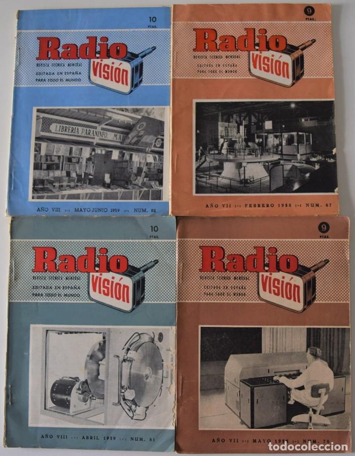 Radios antiguas: LOTE 8 NÚMEROS REVISTA RADIO VISIÓN AÑOS 50, REVISTA TÉCNICA MENSUAL - VER NÚMEROS - Foto 2 - 177752725