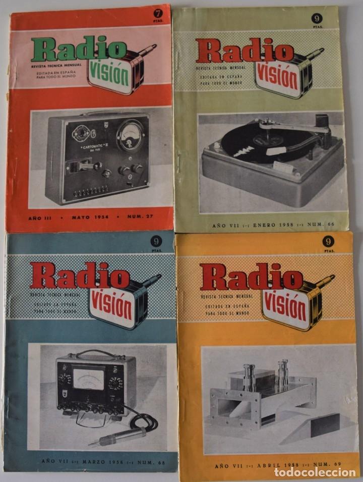 Radios antiguas: LOTE 8 NÚMEROS REVISTA RADIO VISIÓN AÑOS 50, REVISTA TÉCNICA MENSUAL - VER NÚMEROS - Foto 3 - 177752725
