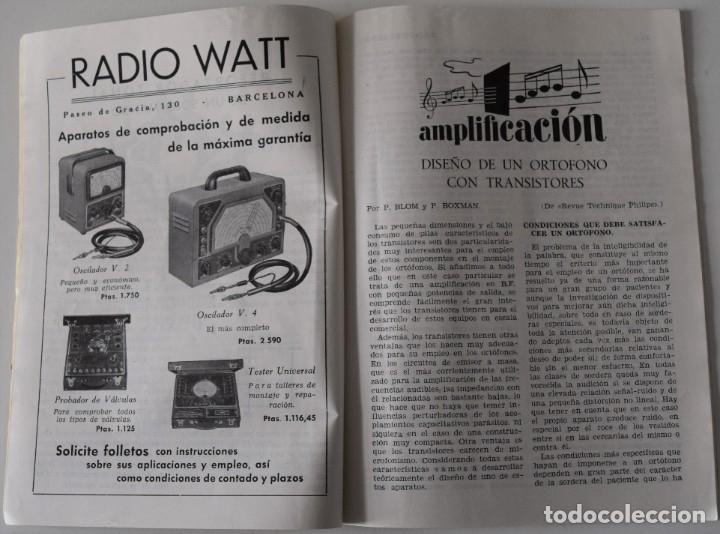 Radios antiguas: LOTE 8 NÚMEROS REVISTA RADIO VISIÓN AÑOS 50, REVISTA TÉCNICA MENSUAL - VER NÚMEROS - Foto 6 - 177752725