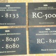 Radios antiguas: LOTE DE 4 MANUALES VIETA. Lote 177791933