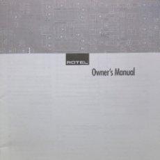 Radios antiguas: MANUAL INSTRUCCIONES DVD ROTEL RDV-985. Lote 177963259