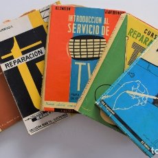 Radios antiguas: LOTE 5 LIBROS REPARACIÓN DE TELEVISORES AÑOS 60 EN CASTELLANO - BUEN ESTADO. Lote 178815582