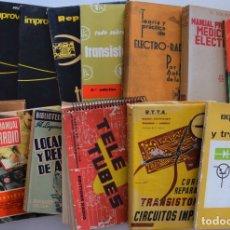 Radios antiguas: LOTE 14 LIBROS SOBRE MONTAJES, REPARACIÓN Y OTROS DEDICADOS A LA RADIO - VER RELACIÓN. Lote 178817851