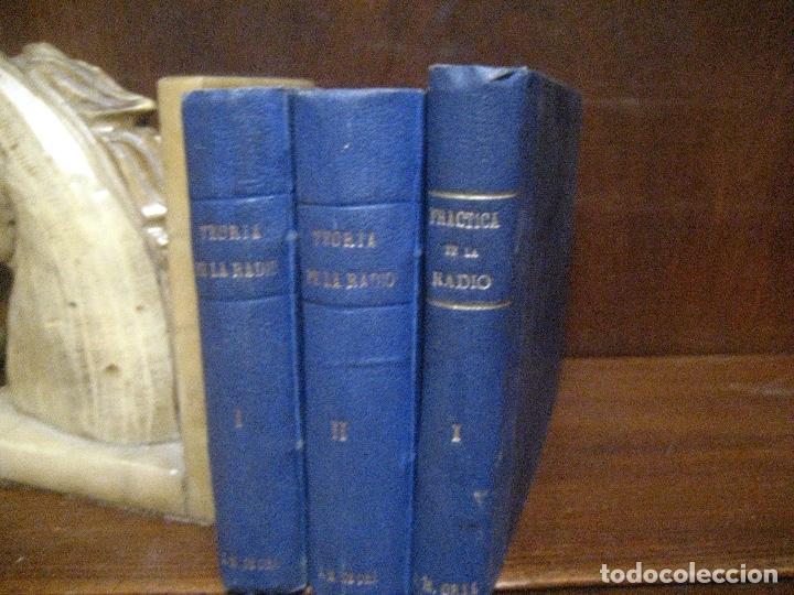 Radios antiguas: curso de radio, escuela de radio maymo, TEORIA I Y II PRACTICA I ( 3 VOLS) - Foto 4 - 178829237