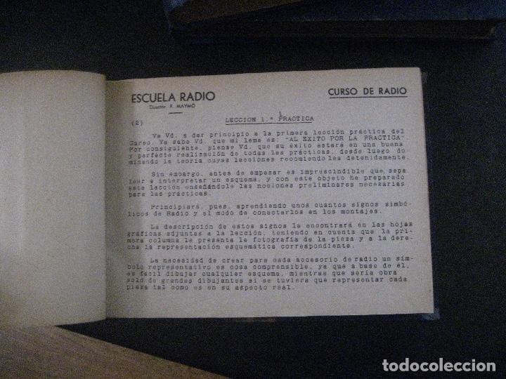 Radios antiguas: curso de radio, escuela de radio maymo, TEORIA I Y II PRACTICA I ( 3 VOLS) - Foto 6 - 178829237