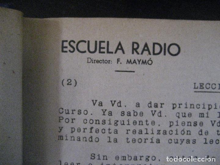 Radios antiguas: curso de radio, escuela de radio maymo, TEORIA I Y II PRACTICA I ( 3 VOLS) - Foto 7 - 178829237