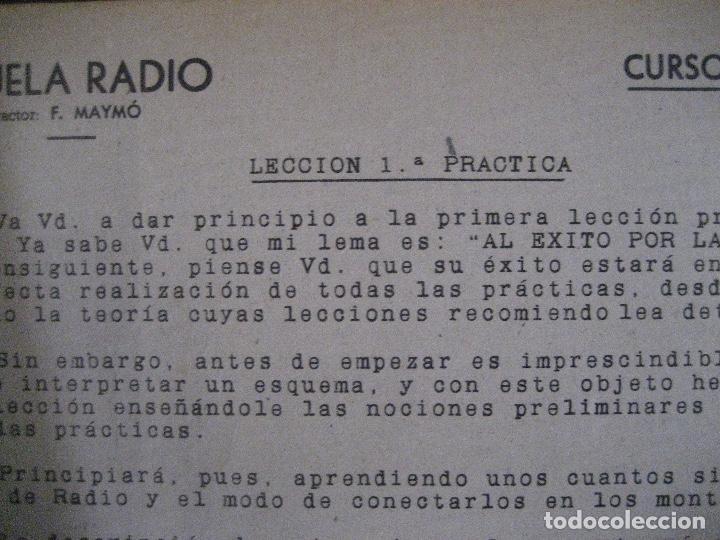 Radios antiguas: curso de radio, escuela de radio maymo, TEORIA I Y II PRACTICA I ( 3 VOLS) - Foto 8 - 178829237