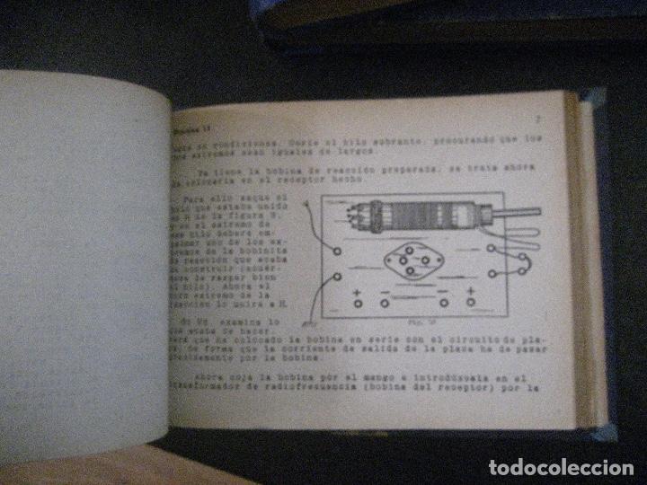 Radios antiguas: curso de radio, escuela de radio maymo, TEORIA I Y II PRACTICA I ( 3 VOLS) - Foto 9 - 178829237