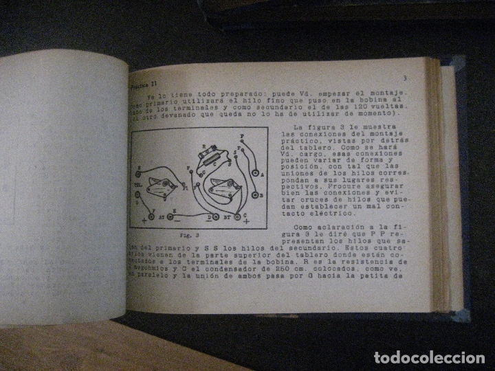 Radios antiguas: curso de radio, escuela de radio maymo, TEORIA I Y II PRACTICA I ( 3 VOLS) - Foto 11 - 178829237