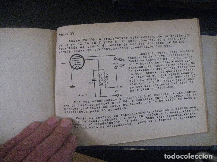 Radios antiguas: curso de radio, escuela de radio maymo, TEORIA I Y II PRACTICA I ( 3 VOLS) - Foto 12 - 178829237