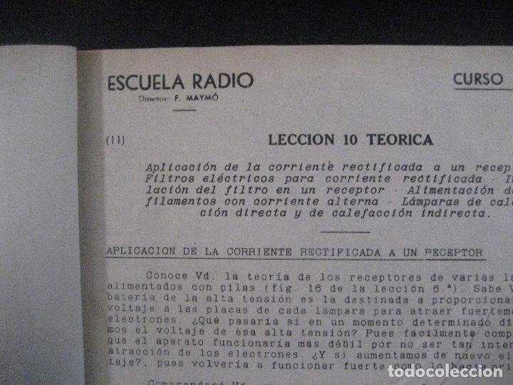 Radios antiguas: curso de radio, escuela de radio maymo, TEORIA I Y II PRACTICA I ( 3 VOLS) - Foto 14 - 178829237