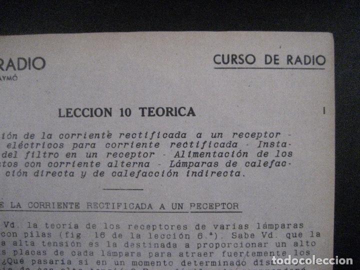 Radios antiguas: curso de radio, escuela de radio maymo, TEORIA I Y II PRACTICA I ( 3 VOLS) - Foto 15 - 178829237