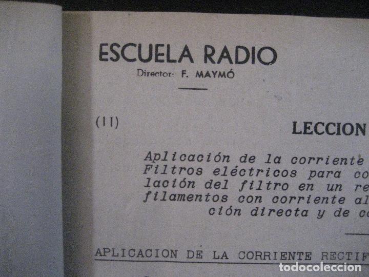 Radios antiguas: curso de radio, escuela de radio maymo, TEORIA I Y II PRACTICA I ( 3 VOLS) - Foto 16 - 178829237