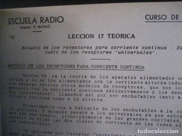 Radios antiguas: curso de radio, escuela de radio maymo, TEORIA I Y II PRACTICA I ( 3 VOLS) - Foto 18 - 178829237