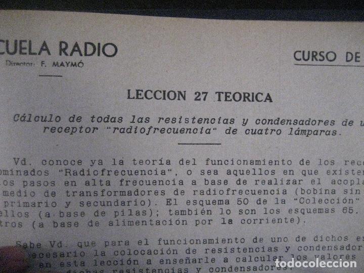 Radios antiguas: curso de radio, escuela de radio maymo, TEORIA I Y II PRACTICA I ( 3 VOLS) - Foto 19 - 178829237