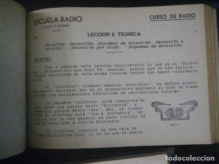 Radios antiguas: curso de radio, escuela de radio maymo, TEORIA I Y II PRACTICA I ( 3 VOLS) - Foto 27 - 178829237