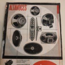 Radios antiguas: ALTAVOCES RADIO SUIZA MELODIAL BARCELONA. Lote 178901761
