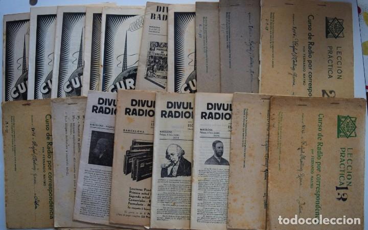 Radios antiguas: GRAN LOTE ESCUELA DE RADIO, CURSO DE RADIO POR CORRESPONDENCIA POR FERNANDO MAYMO AÑOS 40 - Foto 3 - 179091756