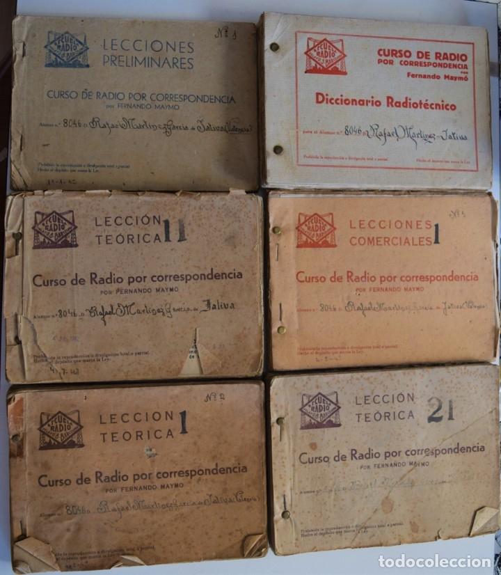 Radios antiguas: GRAN LOTE ESCUELA DE RADIO, CURSO DE RADIO POR CORRESPONDENCIA POR FERNANDO MAYMO AÑOS 40 - Foto 6 - 179091756