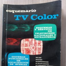 Radios antiguas: ELECTRONICA LIBRO ESQUEMA, ESQUEMAS TELEVISION, ESQUEMARIO TELEVISOR TV COLOR VII - REDE. Lote 179191422