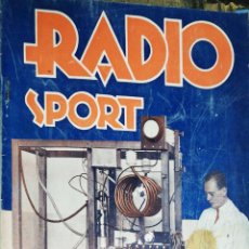 Radios antiguas: RADIO SPORT. MARZO DE 1936. Nº 118. MEDIDAS : 24 X 18 CM APROX. . Lote 180852278