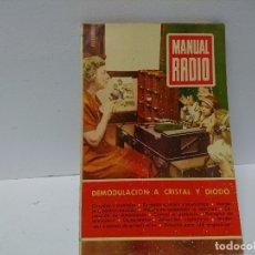 Radios antiguas: 156-MANUAL RADIO. DEMUDELACION A CRISTAL Y DIODO. Lote 181426948